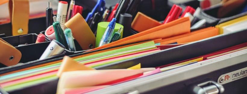 organizing desk
